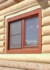 Eurowindows are wooden, to order from the producer