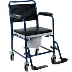 Кресло-каталка с санитарным оснащением, кресло каталка для инвалидов H032B OSD