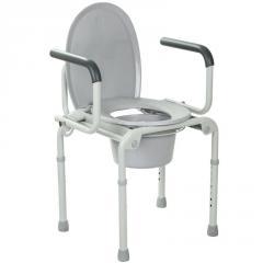 Стальной стул-туалет с откидными подлокотника