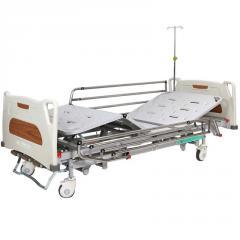 Кровать медицинская механическая с регулировкой высоты, 4 секции, OSD-9017