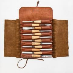 Leather Pouch STRYI for storing tools, ...