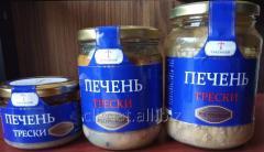 Печень из охлажденной трески мурманская 720 грамм.