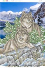 Схема для вышивания бисером БС 2080 Волки