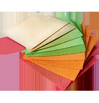Коржі вафельні кольорові 280х280 ТМ ГОЛПЕК