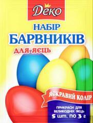 Набір барвників харчових для яєць Деко 3г