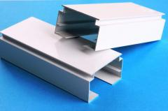 Eaves from the aluminum shape. Profile (eaves)