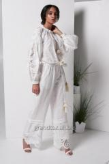 Suit female women white trouser light with
