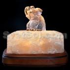 Слон - соляной светильник