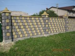 Blocks are concrete chipped