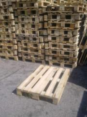 Container wooden. Second-hand europallets.