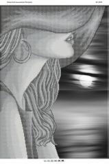 Схема для вышивания бисером Девушка в шляпе БС