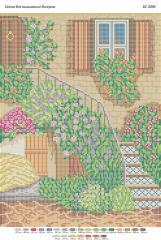 Схема для вышивания бисером Лестница в цвету БС