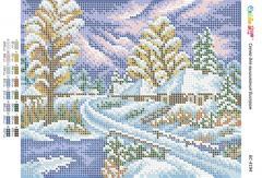 Схема для вышивания бисером Зимная дорога БС 4194