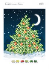 Схема для вышивания бисером Новогодняя елка БС