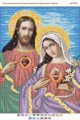 Схема для вышивания бисером Священные сердца