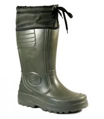 Gumboots are man's, an art. Fisherman.