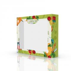 Яркая коробка для кухонных полотенец 230х180х45