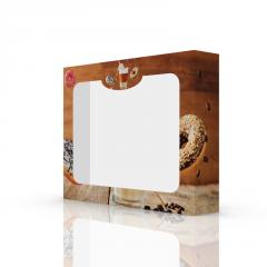 Коробка картонная для донатов и выпечки 230х180х45