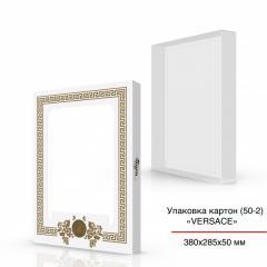 Картонная коробка с окошком, белая 400х300х100 мм