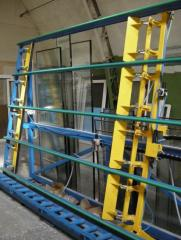 The unit (stand) for a glazing and control