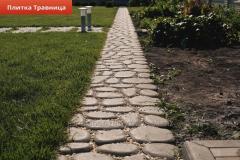 Плитка для садовой дорожки Травница, булыжник