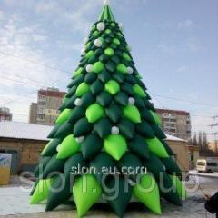 Пневмоелка надувная фигура уличная новогодняя