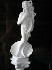 Statue from plaster, the Statue production, the