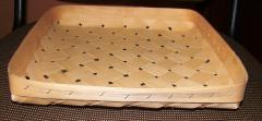Корзина плетеная из букового шпона 250х250х60 без