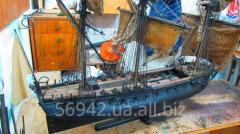 Model of a 30-gun frigate La BELLE POULE, 1765 of