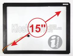 "Сенсорная панель LED «i-Touch» 3 мм 15"" 4:3 в"