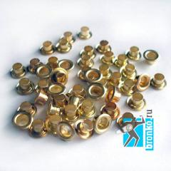 Cringles of 4 mm; 5,5 mm gold/silver