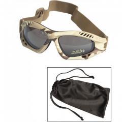 Очки маска Mil-Tec Commando Goggles Air Pro Smoke