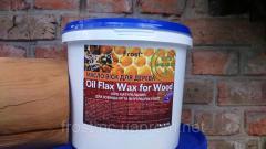 Льняное масло с пчелиным воском для дерева