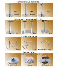 Bases for chairs and tables