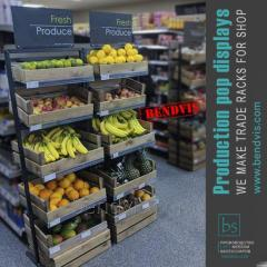 Trading racks for fruits and vegetables from...