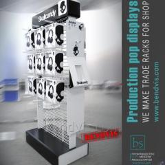 Сетчатое торговое оборудование для наушников