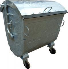 Оцинкований сміттєвий контейнер 1100 літрів