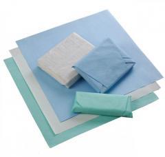 Лист крепированной бумаги для стерилизации / 120х120 см, зеленый, 100 шт ECS