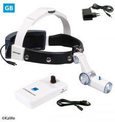 LED налобный осветитель H-800 с аккумуляторoм для крепления на ремень (ВБ)