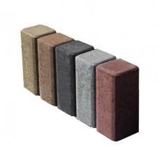 Тротуарная плитка Кирпичик  цветная люкс