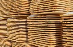 Доска обрезная, сосна,длина (4000, 4500, 6000 мм). Шириной более 150 мм