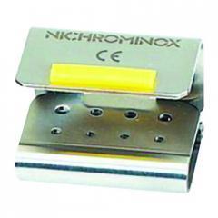Держатель-фиксатор для стоматологических боров на 8 инструментов MX (4FG / 4 CA), 191265 Nichrominox