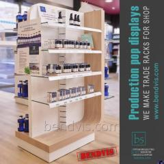 Showcase for cosmetics from the manufacturer