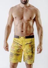 Шорты пляжные Geronimo 1712g1 S 17121/желтый...