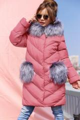 Children's short coat Bunny - Purple