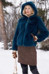 Short fur coat for women