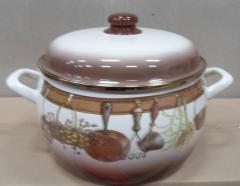 """Набор посуды эмалированная сталь 3 / 1 диаметр 16,20,22см 2,2, 4, 5,3л 2298 """"Кухня"""" Принц"""