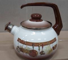 Чайник эмалированная сталь с ручкой диаметр 20 см