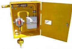 ШРП с регуляторами давления газа KHS, РТГБ, КРТГ, MS, FE, M2R, RBI, B, RSS, DSR, FRG/2MBC и счетчиками газа G4 ВКТ