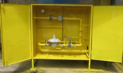 ШРП с регуляторами давления газа RBЕ 1800, RG/2MB, MR50 SF6 и счетчиками газа GMS, РГС, Delta